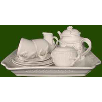 Creamware Tea for Two