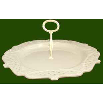 Single Tier Pierced Plate Dessert & Cake Stand