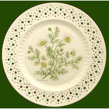 Hand Decorated Plate Herbs- Chamomile