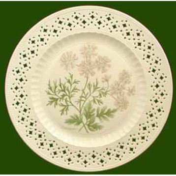 Hand Decorated Plate Herbs- Coriander