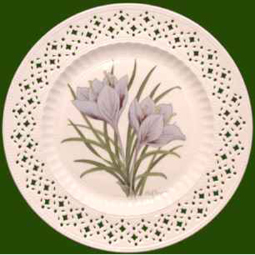Hand Decorated Plate Herbs- Saffron