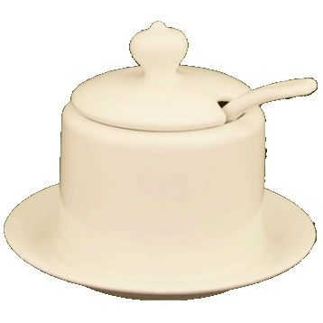 Condiment Pot & Spoon