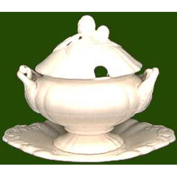 Charlotte Covered Sauce Tureen with Stand