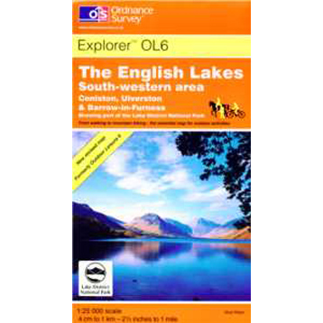 Ordnance Survey The English Lakes SW Area