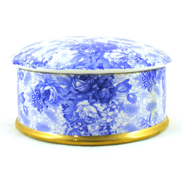 Blue Welbeck Round Trinket Box