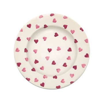 Pink Hearts Plates