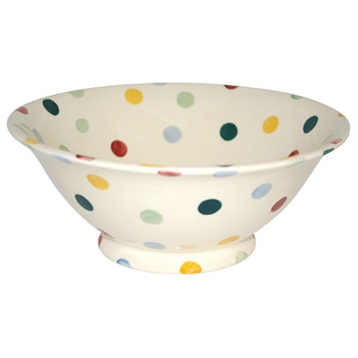 Polka Dot Serving Bowl