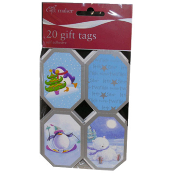 20 Snowy Ice Gift Tags