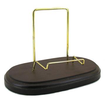 Plate Stand - Mahogany Finish