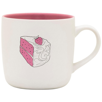 Pink Champagne Cake Mug