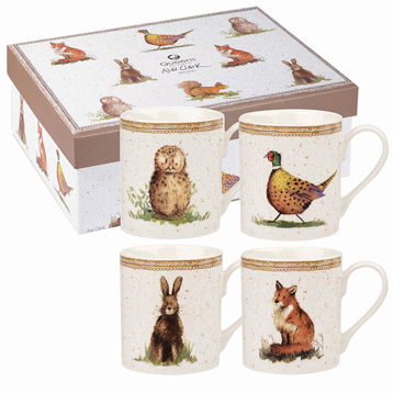 Wildlife Larch 4 Mug Gift Set