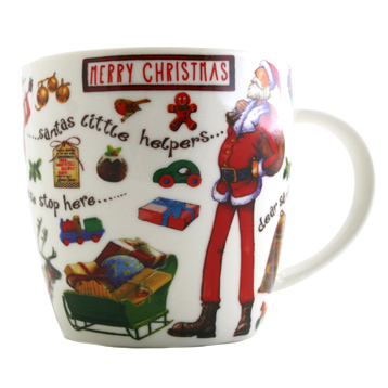 Merry Christmas Squash Mug 400ml in Gift Box