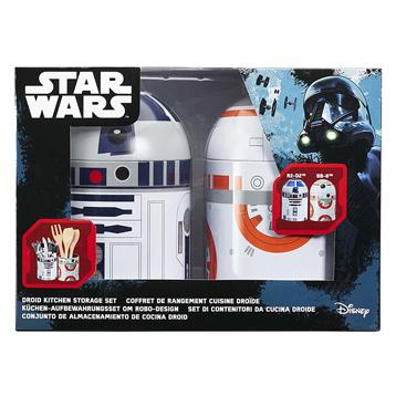 BB-8 & R2-D2 2 Pack Kitchen Storage Set