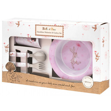 Dandelion 6 Piece Melamine & Cutlery Set