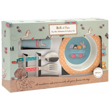 The Toy Box 6 Piece Melamine & Cutlery Set
