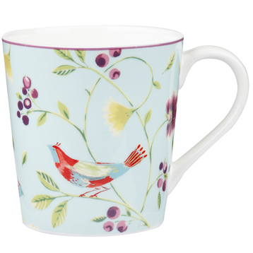 Singing Birds Chestnut Mug in Blue 300ml