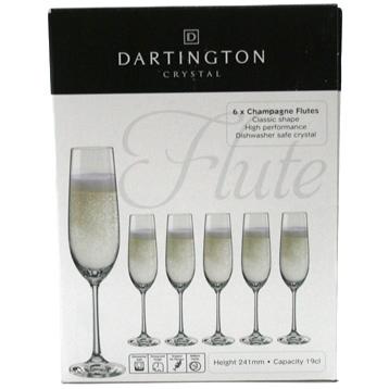 Champagne Flutes Set of Six Glasses