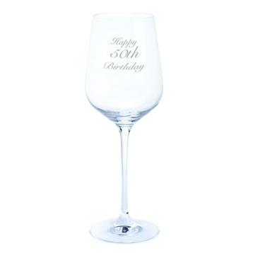 Just For You 'Happy 50th Birthday' Wine Glass