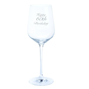Just For You 'Happy 60th Birthday' Wine Glass