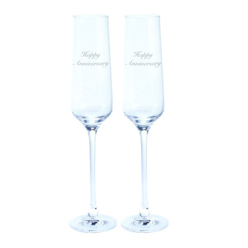 Just For You 'Happy Anniversary' Flute (Pair)