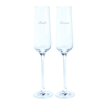 Just For You 'Bride & Groom' Flute (Pair)