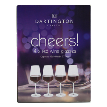 Cheers! Red Wine Glasses (4 Pack)
