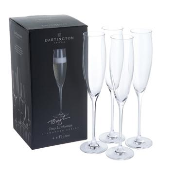 Signature Series Flute Glasses (Four Pack)