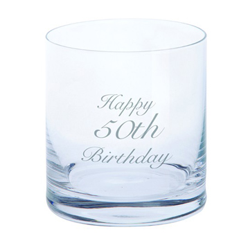 Just For You 'Happy 50th Birthday' Tumbler Glass