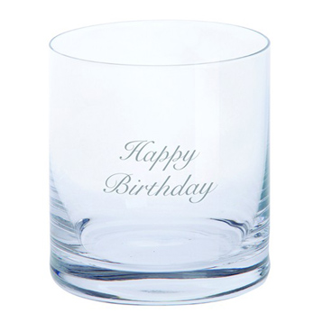 Just For You 'Happy Birthday' Tumbler Glass
