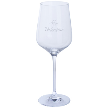 "Just For You ""My Valentine"" Wine Glass"
