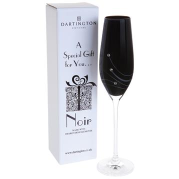 Noir Flute Glass