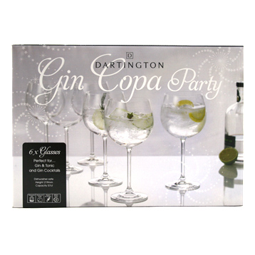 Party Set of Six Gin Copa