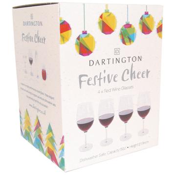 Festive Cheer Red Wine Glasses (4 Pack)