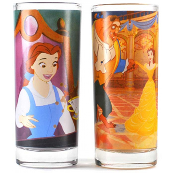 Beauty and The Beast Set of Two 300ml Glasses