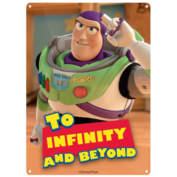 Toy Story Buzz Lightyear To Infinity and Beyond Small Tin Sign