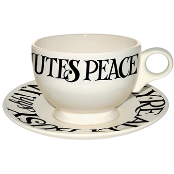 Black Toast Breakfast Cup & Saucer