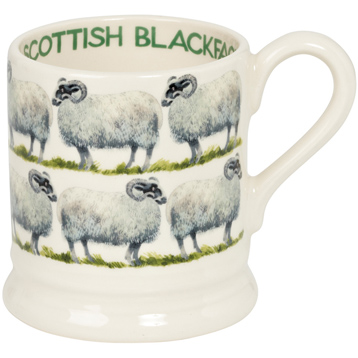 Scottish Blackface Sheep 1/2 Pint Mug