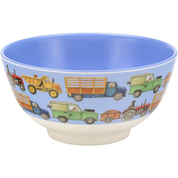 Men At Work 2 Tone Melamine Bowl