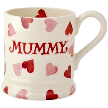 Pink Hearts 'Mummy' 1/2 Pint Mug