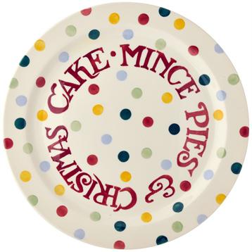 Polka Dot Christmas Cake Plate