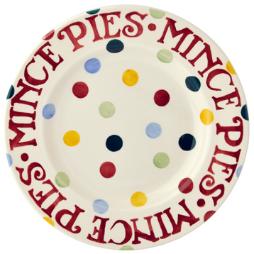 Polka Dot Christmas Mince Pie Plate