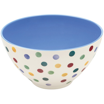 Polka Dot Melamine Large Salad Bowl