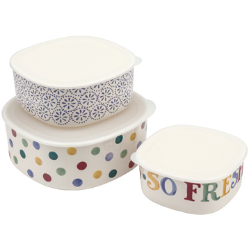 Set of 3 Melamine Storage Containers