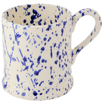 Blue Splatter ½ Pint Mug