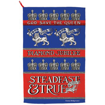 Diamond Jubilee Tea Towel Steadfast and True
