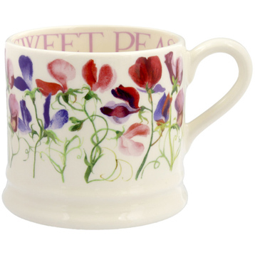 Sweet Pea Flowers Baby Mug