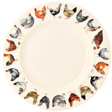 """Hens & Toast 10 1/2"""" Plate"""