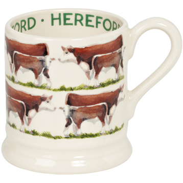 Hereford Cow 1/2 Pint Mug