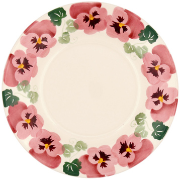 """Pink Pansy 8½"""" Plate"""
