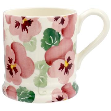 Pink Pansy ½ Pint Mug